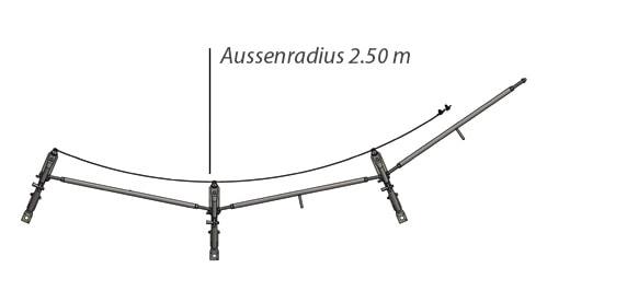 Kreisschalung Aussenradius 2.50 m