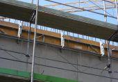 BKA Pro Konsole 30 cm im Einsatz bei  Fassadengerüsten