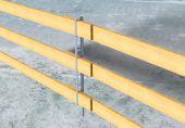Seitenschutz mit Holzlatten
