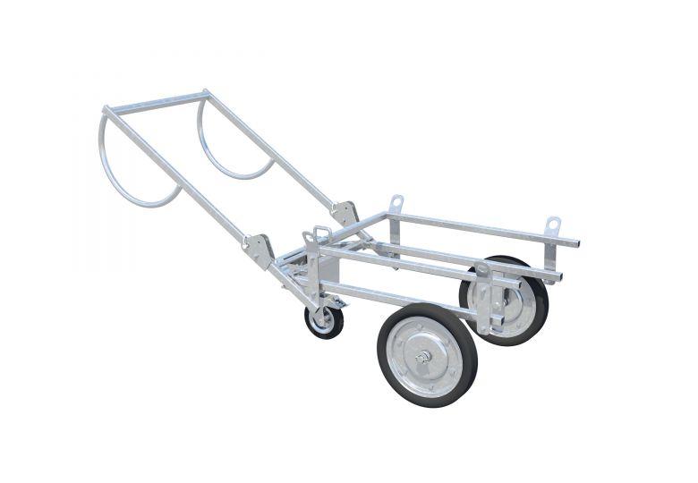 Ermöglicht das einfache Anheben und Transportieren von 200 L Mörtelmulden.